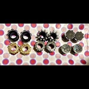 00g (10mm) metal tunnels for stretched ears